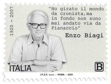 Filatelia Emissione Francobollo Francobollo Commemorativo Enzo Biagi Centenario Della Nascita