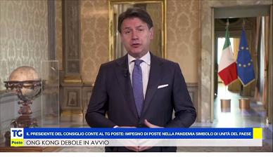 Presidente del Consiglio Giuseppe Conte al TgPoste.